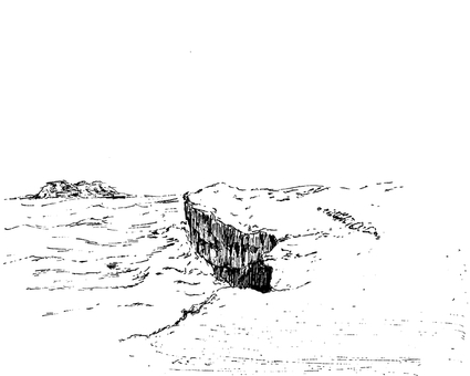 Scenery of cape