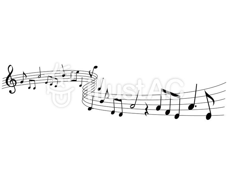 音楽音符イラスト10流れる音楽イラスト No 555224無料イラスト