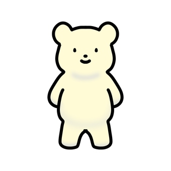 Polar bear standing on two legs