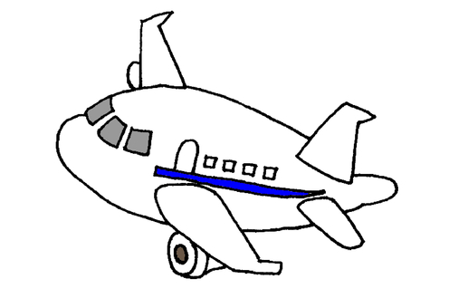 Flying aircraft blue