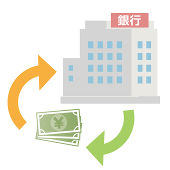 Bank Illustration Lending Money Arrow