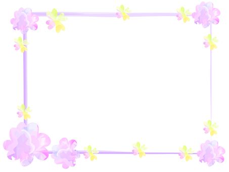 Watercolor touch flower frame