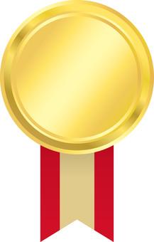 Medal red ribbon