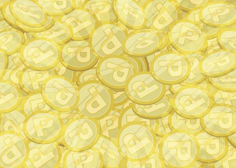 たくさんのコイン1(キラキラ控えめ)