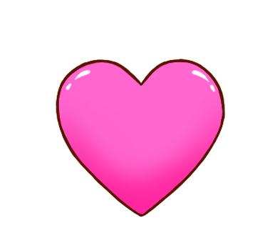 하트 핑크