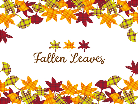 Fall check pattern background