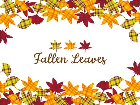 Fall check pattern background