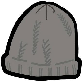 니트 모자 방한 겨울 털실