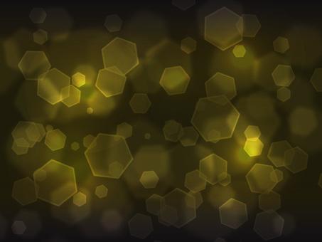 六角形燈·深黃色