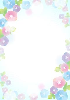 파스텔 나팔꽃 배경 2