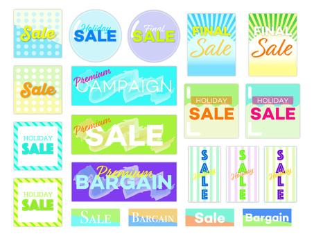 Blue type sale banner