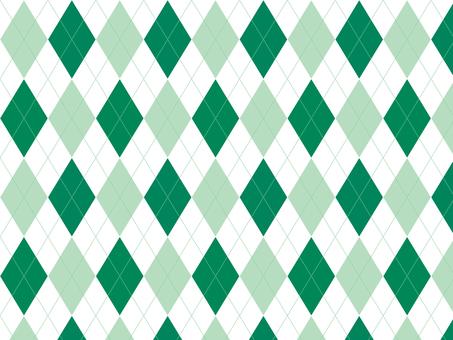 Argyle ● Green × White