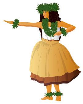 Hula Dance Hula Girl 014