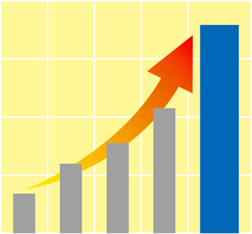 Graph _ rapid growth _ 02 _ blue
