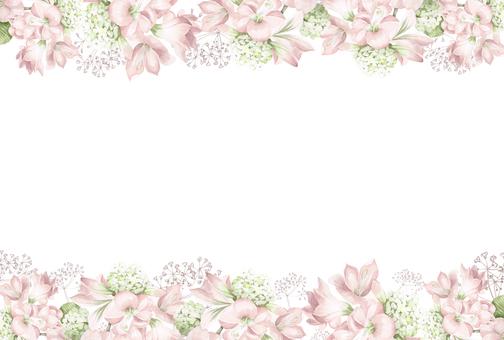 花枠296-ピンクのアマリリスの花枠