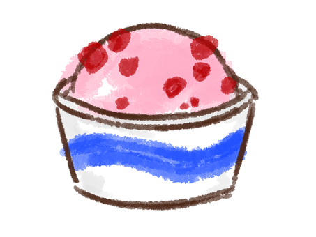 Crayon series [cup / strawberry]