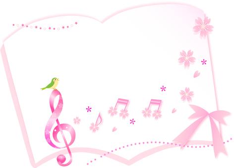 벚꽃의 음표 프레임