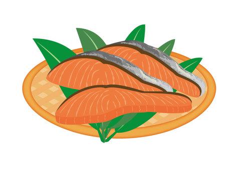 Salmon (bamboo grass)