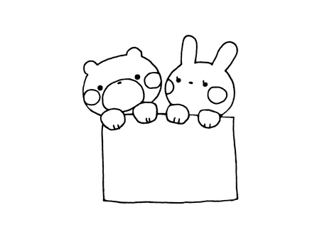Bear and rabbit and paper