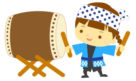 Children's Japanese drum 2