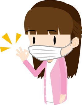 Wearing a mask (woman)