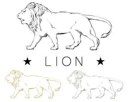 Antique style lion