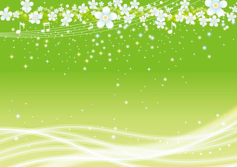 緑の輝きの背景
