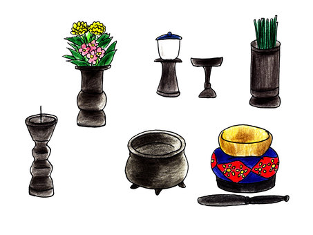 Buddhist complete set for home use