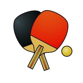 乒乓球球拍和球