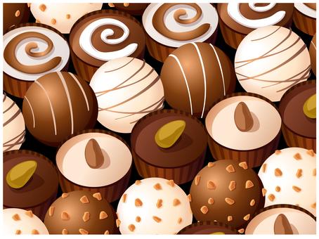 초콜릿 발렌타인 초콜릿 세트