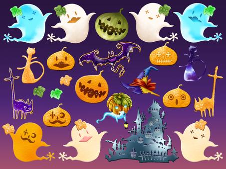 Halloween motif set