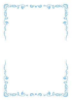 Asian style A4 frame (light blue)