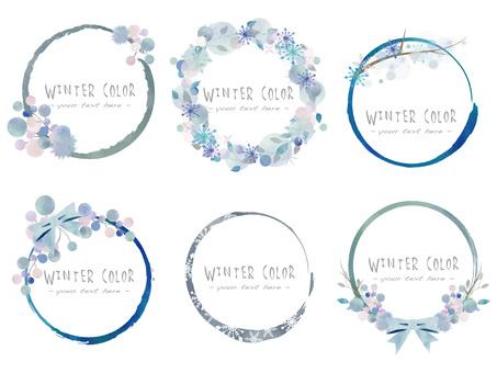 겨울 색 프레임 세트 ver11