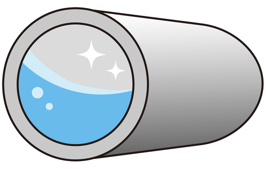 Beautiful drainage pipe (horizontal)