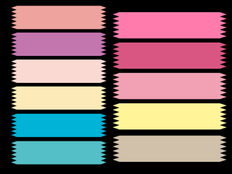 Colorful tape Various material set