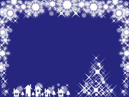 Christmas snow crystal winter