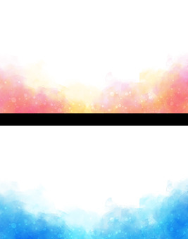 名刺セット 水彩 絵の具 カード バナー
