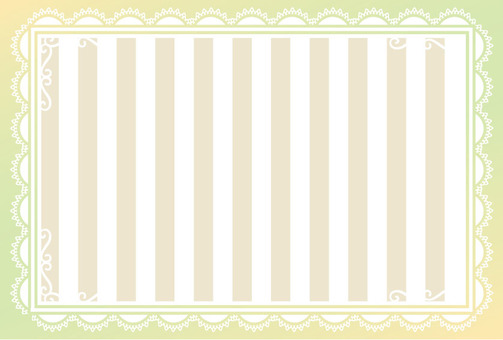Lace and striped green card