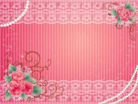 Rose wallpaper antique