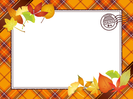 Autumn leaves · Autumn leaves check Letter frame 3
