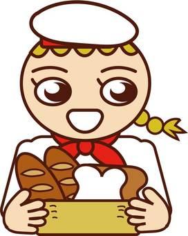 Clerk of bakery