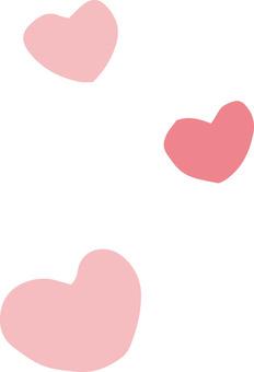 Heart (round · pink 3 pieces)