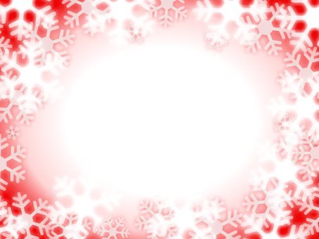 Snow crystal frame red