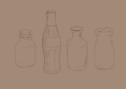 Hand drawn antique bottle 01 tea