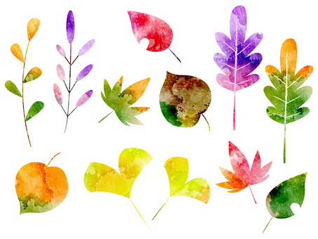 Autumn leaf set ver 01
