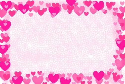 Heart covered frame