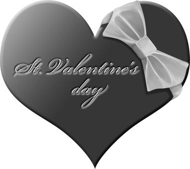Valentine's chocolate (black and white)