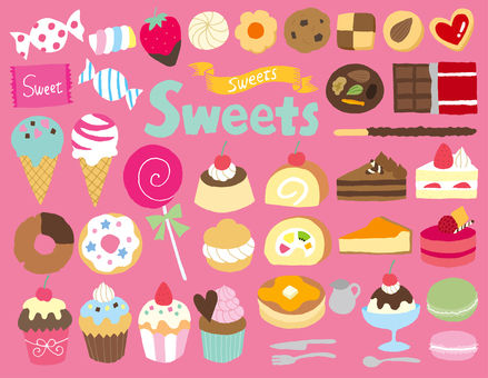 Sweets Hand Drawn 2
