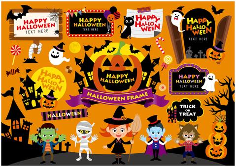 Halloween frame set 03