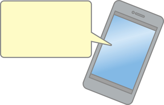 Smartphone and balloon (rounded rectangle)
